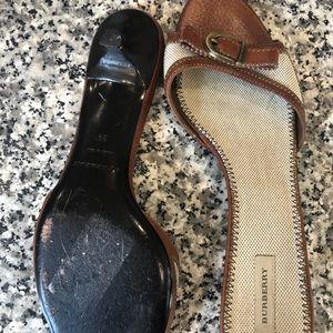 Burberry Shoes - Burberry kitten heel slide